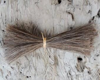 Horse Hair .5 ounce Brown, Black, or White, Horse Hair Bundle, Fiber Art, Felt Animal Whiskers, Native American Regalia, Boho Jewelry Making