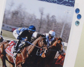 Kentucky Derby Spring Meet Racehorse fine art greeting card four by six inches