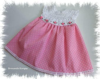 Crochet baby dress - newborn