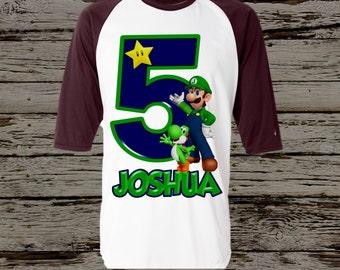 Luigi Birthday Shirt - Super Mario Brothers Birthday Shirt