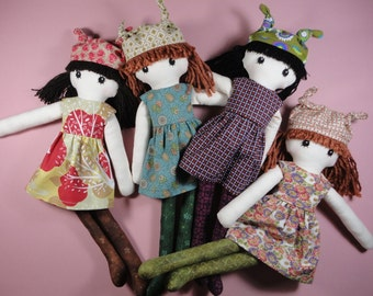 Cloth doll rag doll pdf pattern with detailed instructions - Jenny