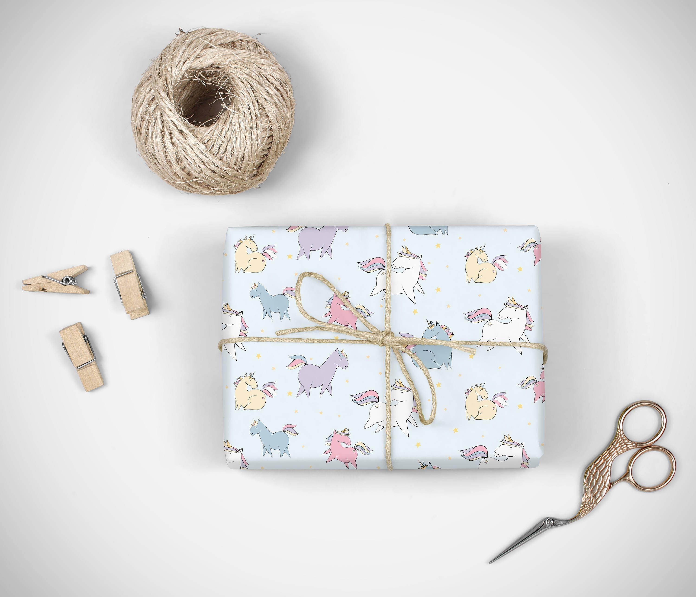 Einhorn Verpackung Papier digitale Geschenk zu verpacken