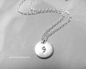 Silver Initial Necklace - Personalized - Bridesmaids Necklace - Initial Jewelry - Bridesmaid Gifts - Gift - Birthday Gift - Bridal Jewelry