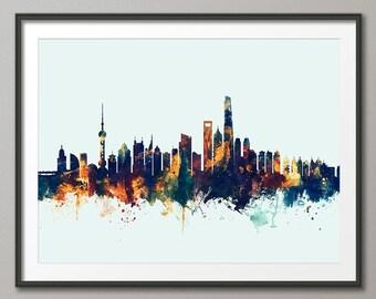 Shanghai Skyline, Shanghai China Lujiazui Cityscape (2649)