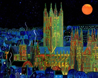 Boxed set of placemats based on Canterbury paintings by Richard Friend