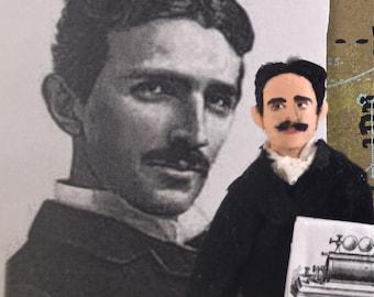 Nikola Tesla Inventor Electrical Engineer Science Mad Scientist Collectible Doll