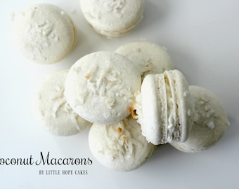 Coconut French Macarons