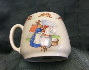 Royal Doulton Bunnykins Porcelain Cup/Mug Made in England C. 1936