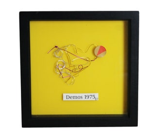 Wire Art Collage Small Yellow Demos by Essole