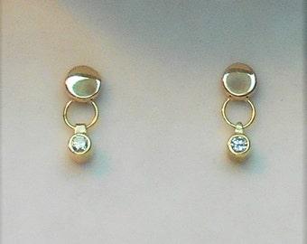 Diamond Earrings, Diamond Stud Earrings, 14k  Diamond Earrings, 14k Diamond Stud Earrings, 14k  Diamond Dangling Earrings