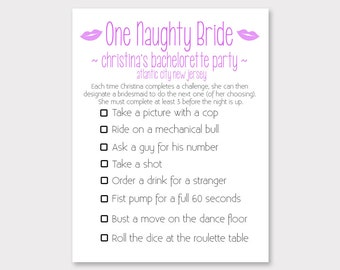 Bachelorette Party Game // Naughty Bride Game // Girls Night Out Party // Bachelorette Game for Atlantic City