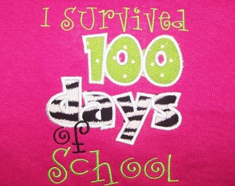 I Survived 100 days of School t shirt 100th Day of school Shirt