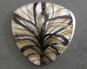 Large 5 cm Lampwork Murano glass pendant