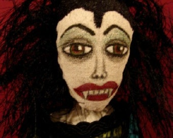 Vampire Art Doll-Female Vampire Doll-VAMPIRA  (Similar Doll Made to Order by Request)