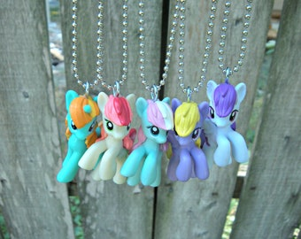 You Choose Pony 2 Inch Size My Little Pony Necklace on 16 Inch Ballchain Kitsch Kawaii NEW STOCK IN