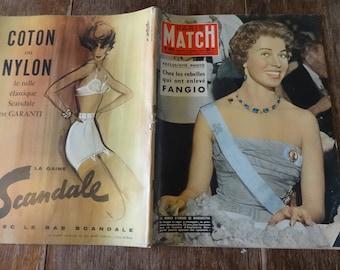Vintage French Paris Match Magazine No 465 Princesse Margaretha Special circa 8 Mars March 1958 / English Shop