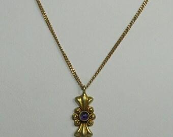 Vintage Vermeil Pendant with Amethyst