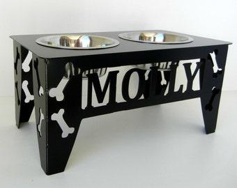 Custom Raised Dog Bowl Stand - Medium