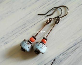 Dangle earrings, rustic earrings, boho earrings, earrings handmade, handcrafted earrings, earrings for women, sisters, girlfriend, gift her