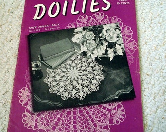 Antique Crochet - Doilies, Book 184, Spool Cotton Company, 1942 Original Book, not a PDF
