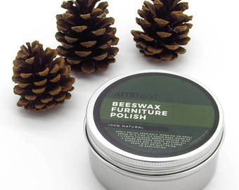 Wood Furniture Polish with Beeswax and Gum Turpentine. 100% Natural and Traditional Care
