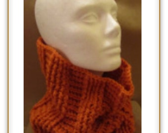 Cowl in Carrot
