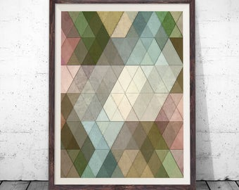 Geometric Art, Wall Art Prints, Geometric Wall Art Scandinavian Print Instant Download Scandinavian Art Geometric Poster Geometric Art Print