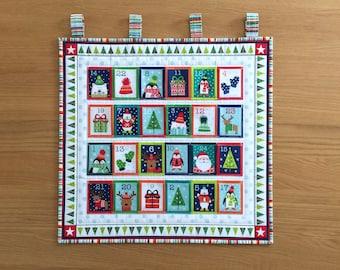 Reusable Advent Calendar, Fabric Advent Calendar, Christmas Holiday Countdown, Childs Advent Calendar, Wall Hanging Advent Calendar