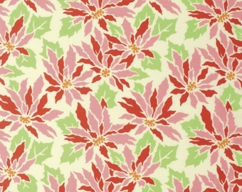 Heather Bailey for Free Spirit - GINGER SNAP - Poinsettia in Cream - By The Yard