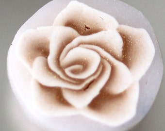 Warm White Rose Cane, Polymer Clay Flower Cane, Raw Unbaked