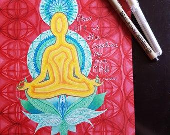 BUDDHA CREATION PRINT