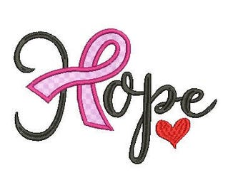 Hope applique embroidery design