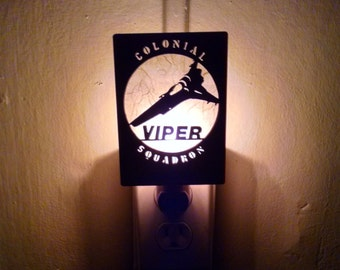 BattleStar Galactica Viper Squadron Night Light