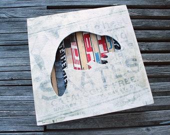 Beaver Reclaimed Hockey Stick Shadow Box