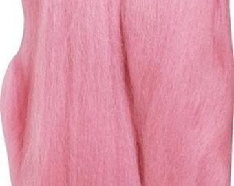 Clover Felting Natural Wool Roving Pink Part No. 7926