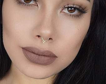 Solid Gold Septum Jewelry Gold Septum Ring Septum Ring