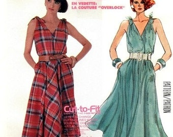 McCall's 2483 Lovely Lapped Bodice Dress / 1986 SZ12-16 UNCUT