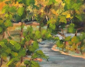 Solomon River Oil Painting