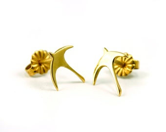 Gold Plated Swallow Earrings