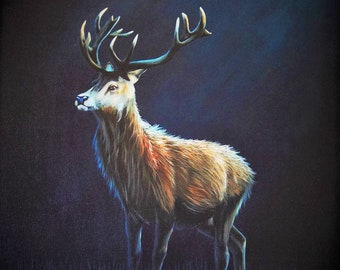 Greetings Card Print - Glance of a Stag