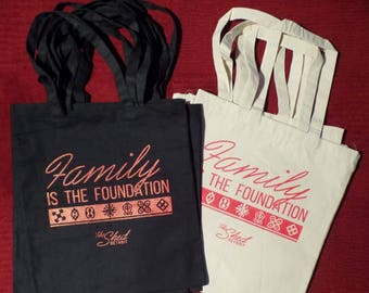 Family is the Foundation CANVAS TOTE BAG