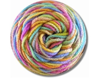 Pastel Knitting Wool Yarn Round Mousepad