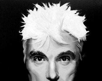 David Byrne Fine Art Print (Talking Heads - New Wave - Burning Down The House - Road To Nowhere - Music Portraits - Icons)