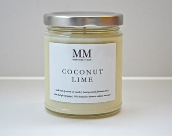 COCONUT LIME // natural soy candle // hand-poured // small batch