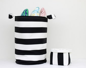 Set Of Two Toy Basket, Laundry Basket, Toy Storage, Nursery Fabric Basket, Storage Bin, Laundry Hamper, Nursery Storage