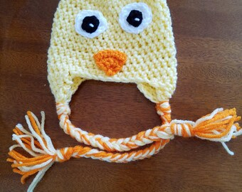Adorable duck hat.  Please see our duck booties to match!
