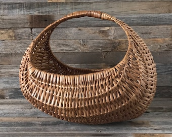 Vintage Large Wicker Gondola Basket