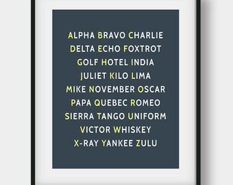 60% OFF NATO Phonetic Alphabet Pilot Gift Print, Aviation Art, Aviation Decor, Printable Art, Boys Room Decor, Phonetic Alphabet Poster