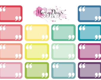Rainbow Quote Half Boxes - Colour Customisable. Memory Keeping, Quote of the Day