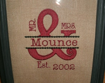 Mr. & Mrs. Personalized Custom Burlap Print Any Color Any Design of your Choice... PRINT ONLY
